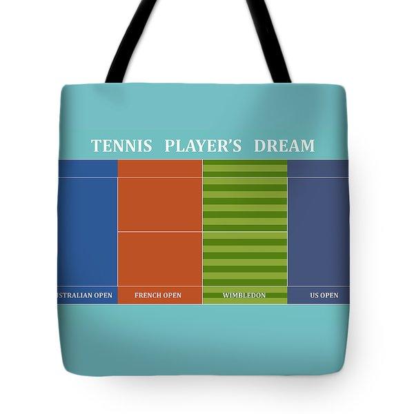 Tennis Player-s Dream Tote Bag by Carlos Vieira