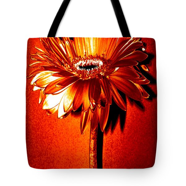 Tequila Sunrise Zinnia Tote Bag by Sherry Allen