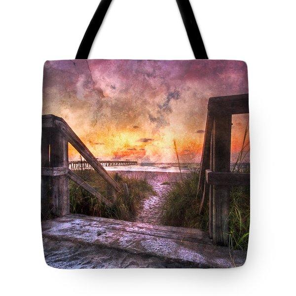 Tequilla Sunrise Tote Bag by Debra and Dave Vanderlaan