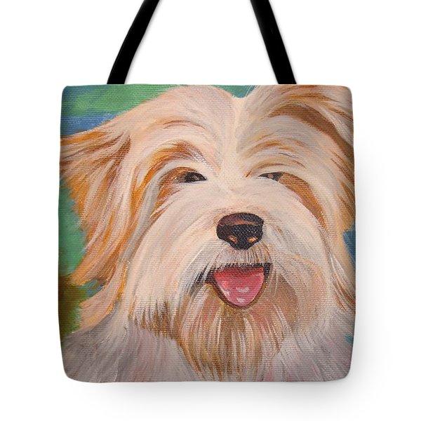 Terrier Portrait Tote Bag by Tracey Harrington-Simpson