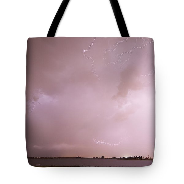 Terry Lake Lightning Thunderstorm Tote Bag by James BO  Insogna