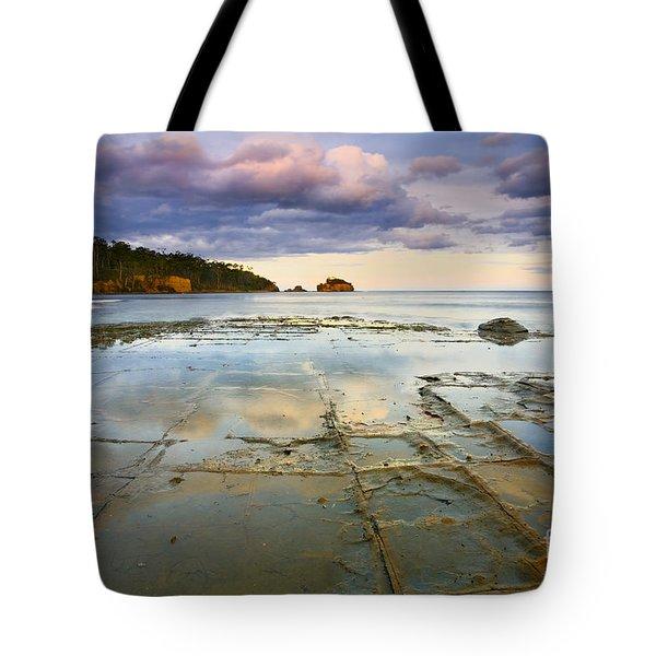 Tesselated Dusk Tote Bag by Mike  Dawson
