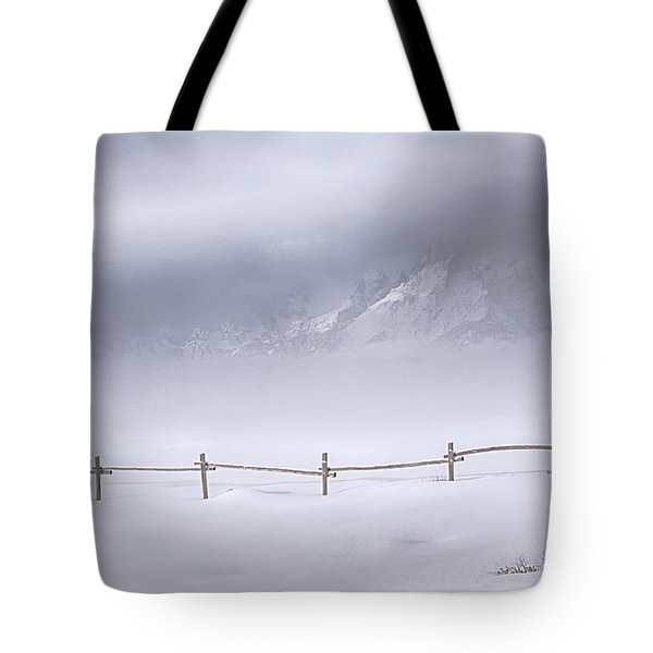 Teton Morning Tote Bag by Priscilla Burgers