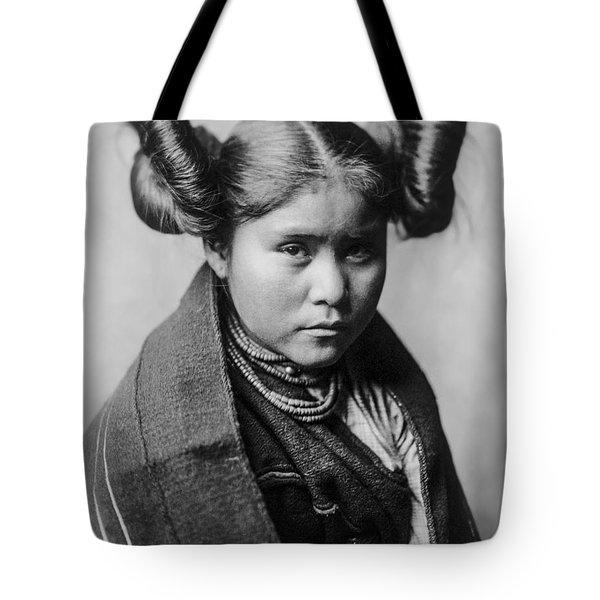 Tewa Girl Tote Bag by Aged Pixel