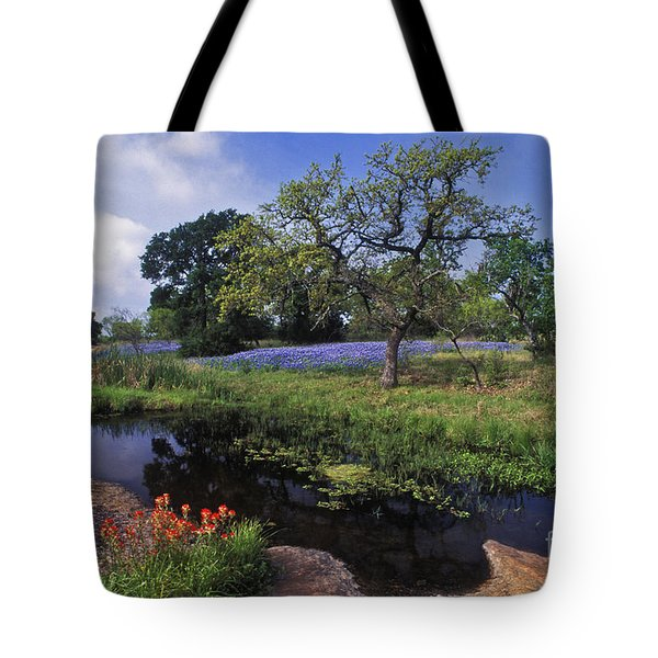 Texas Hill Country - FS000056 Tote Bag by Daniel Dempster