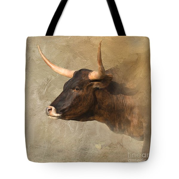 Texas Longhorn # 3 Tote Bag by Betty LaRue