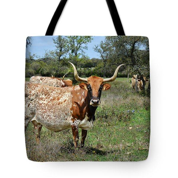 Texas Longhorns Tote Bag by Christine Till