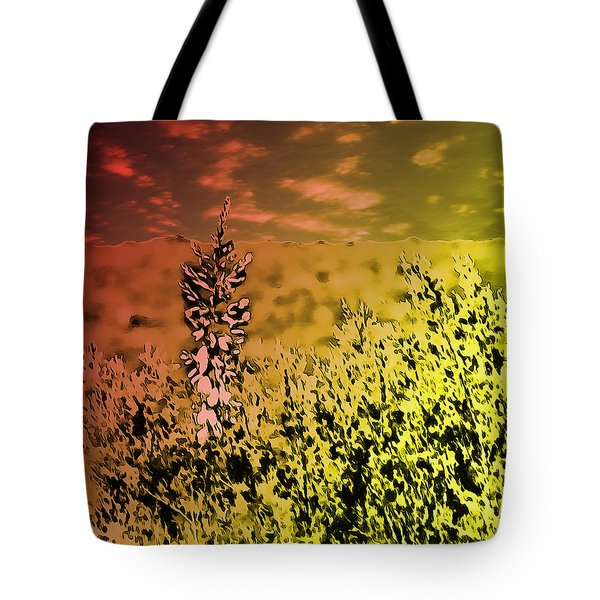 Texas Yucca Flower Tote Bag by Bartz Johnson