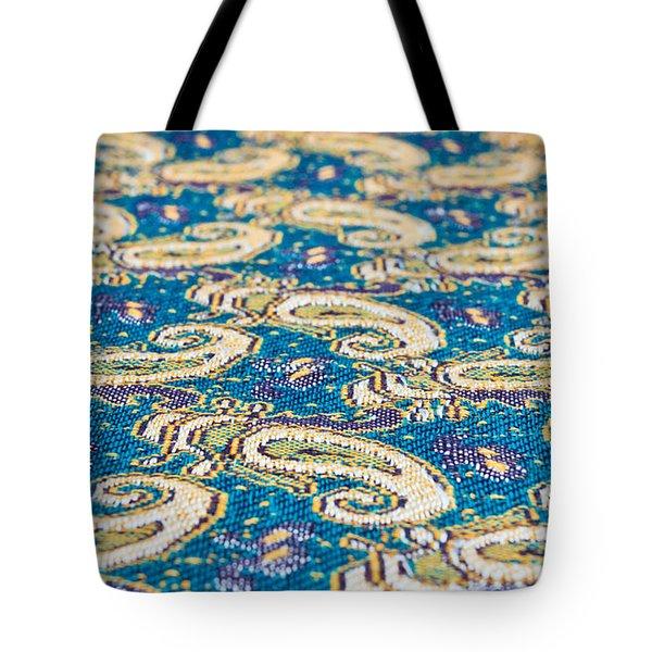 Textile pattern Tote Bag by Tom Gowanlock