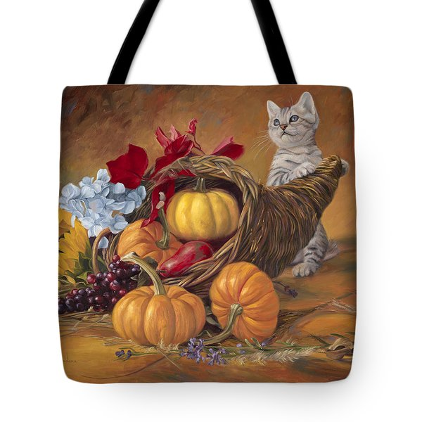 Thankful Tote Bag by Lucie Bilodeau