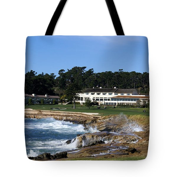 The 18th At Pebble Beach Tote Bag by Barbara Snyder