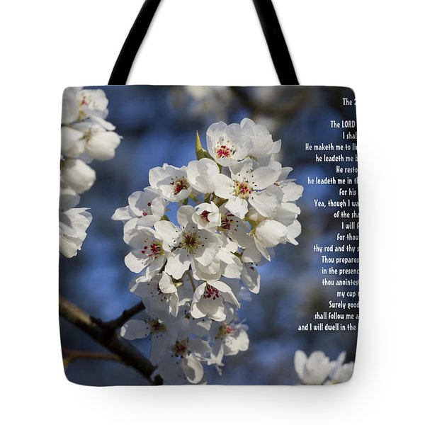 The 23rd Psalms Tote Bag by Kathy Clark