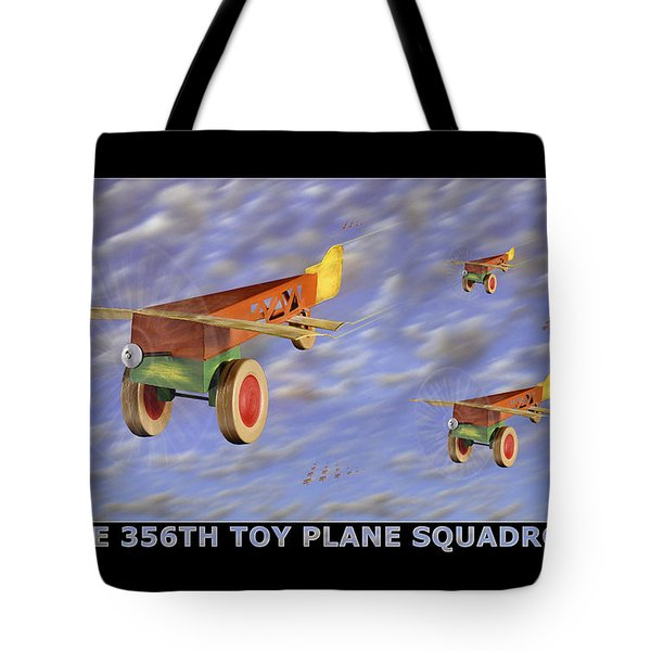 The 356th Toy Plane Squadron Tote Bag by Mike McGlothlen
