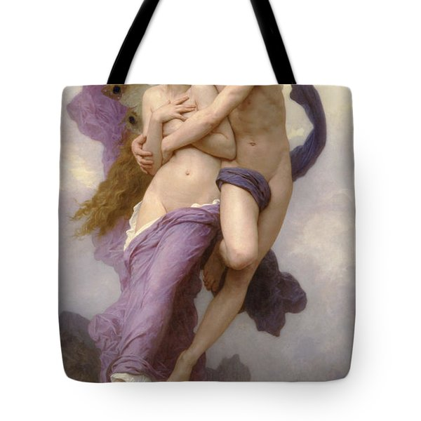 The Abduction of Psyche Tote Bag by William Bouguereau
