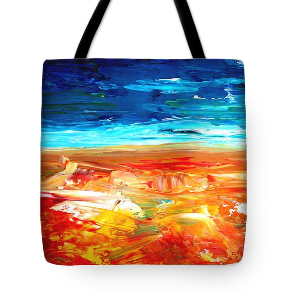The Abstract Rainbow Beach Series II Tote Bag by M Bleichner