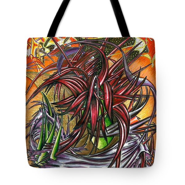 The Abysmal Demon Of Hair Tote Bag by Shawn Dall