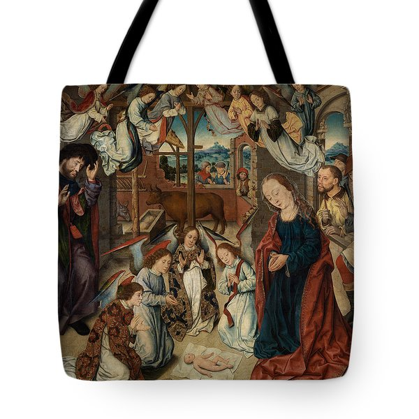 The Adoration Of The Shepherds Tote Bag by Albrecht Bouts