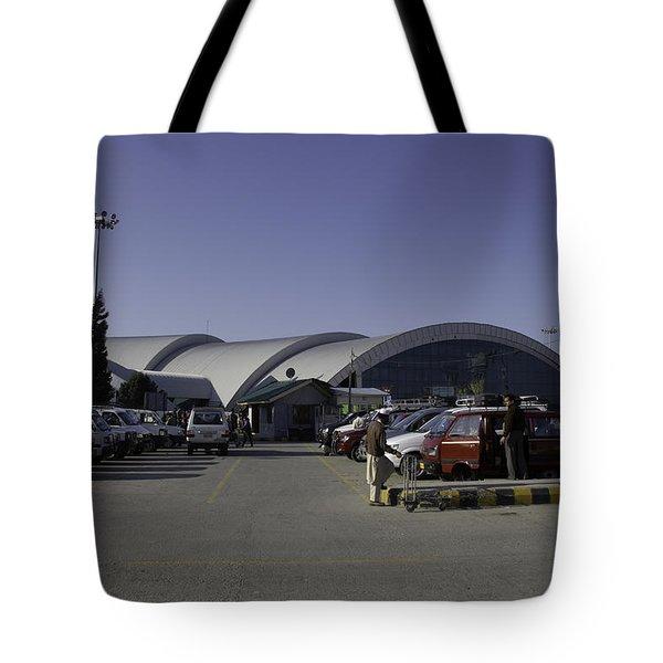 The Airport In Srinagar The Capital Of Jammu And Kashmir Tote Bag by Ashish Agarwal