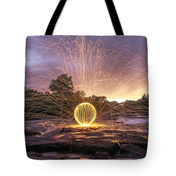The American River Orb Tote Bag by Lee Harland
