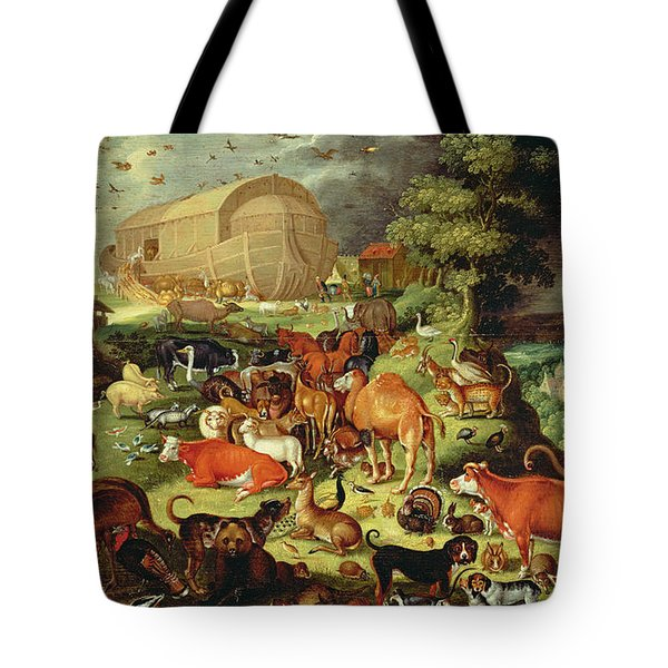 The Animals Entering The Ark Tote Bag by Jacob II Savery