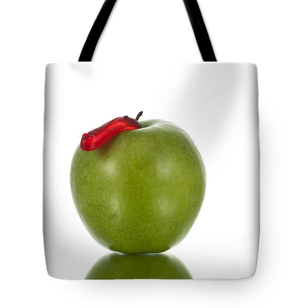 The Apple and the Worm Tote Bag by Juli Scalzi