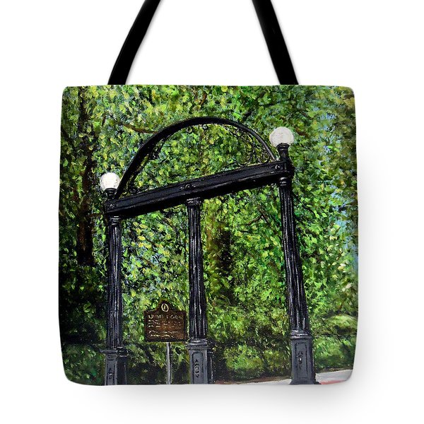 The Arch - University Of Georgia- Painting Tote Bag by Katie Phillips