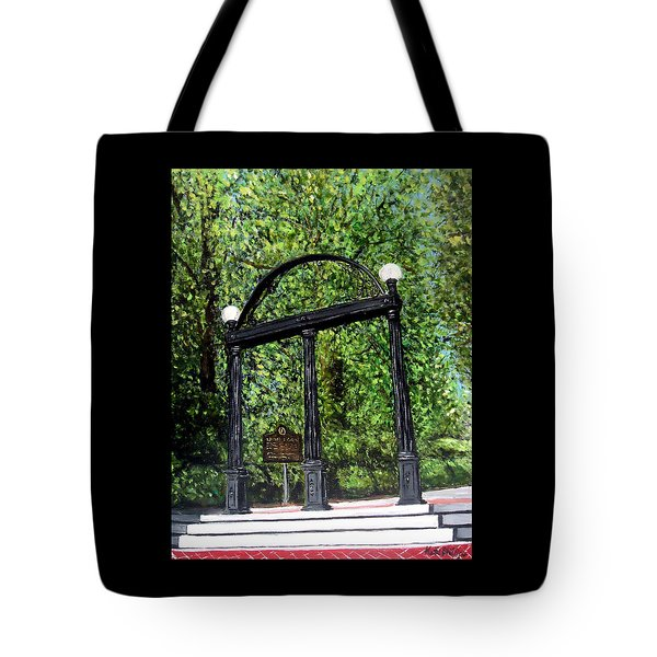 The Arch At Uga Tote Bag by Katie Phillips