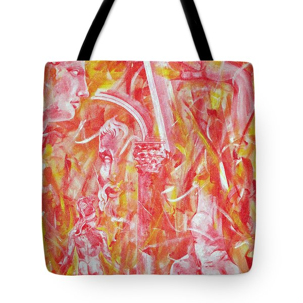 The Art Of Sculptures Tote Bag by Konni Jensen