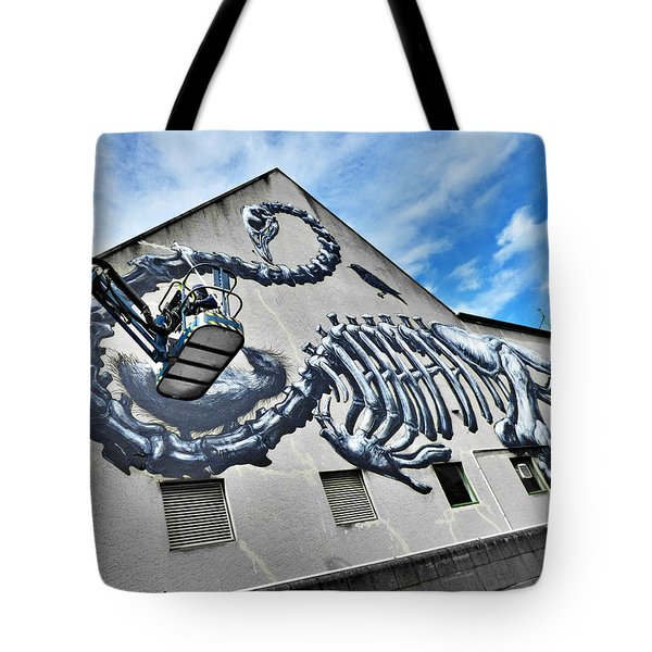 The Artist Roa At Work  Tote Bag by Steve Taylor