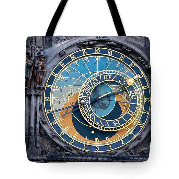 The Astronomical Clock In Prague Tote Bag by Michal Bednarek
