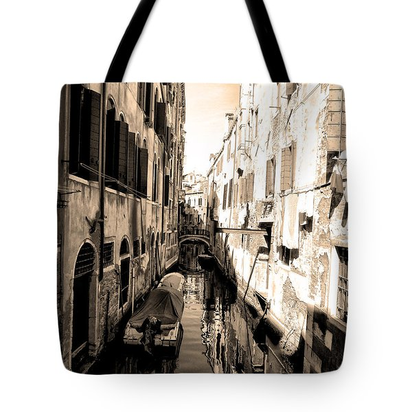 The Back Canals Of Venice Tote Bag by Pat Cannon