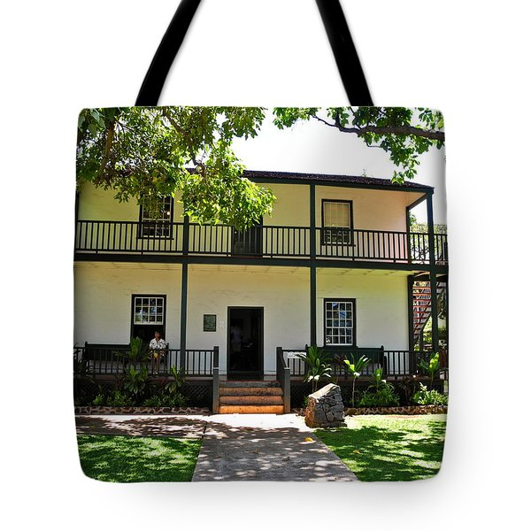 The Baldwin House in Lahaina I Tote Bag by Kirsten Giving