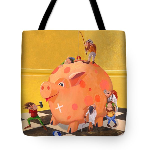 The Bank Robbery Tote Bag by Leonard Filgate