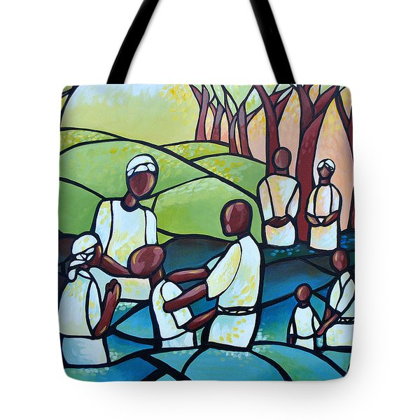 The Baptism Tote Bag by AC Williams