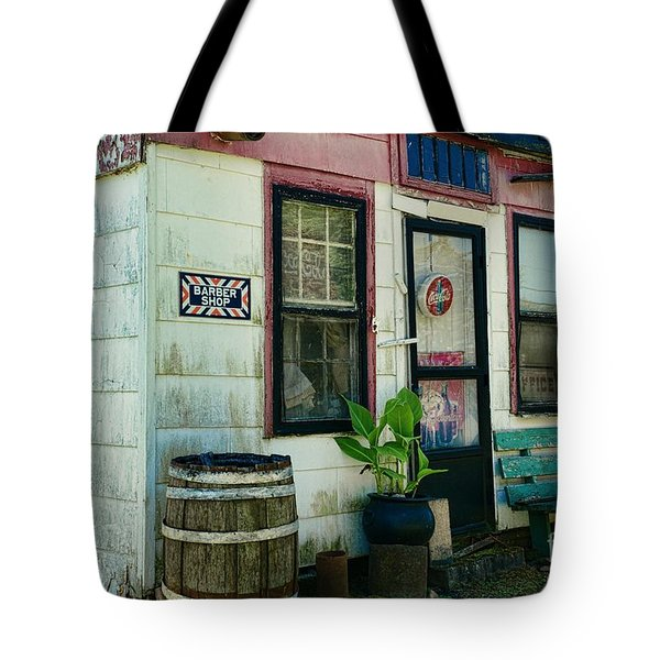 The Barber Shop from a different era Tote Bag by Paul Ward