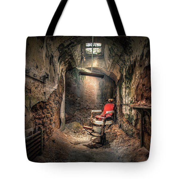 The Barber's Chair -the Demon Barber Tote Bag by Gary Heller