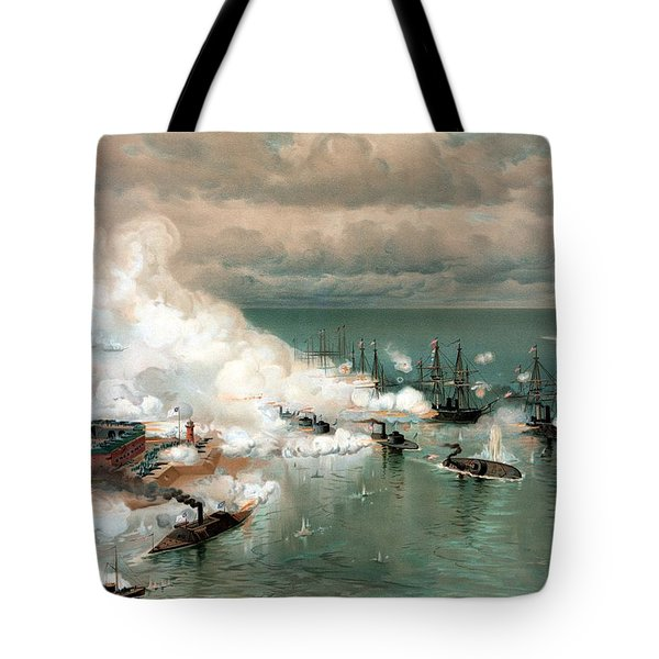 The Battle Of Mobile Bay Tote Bag by War Is Hell Store