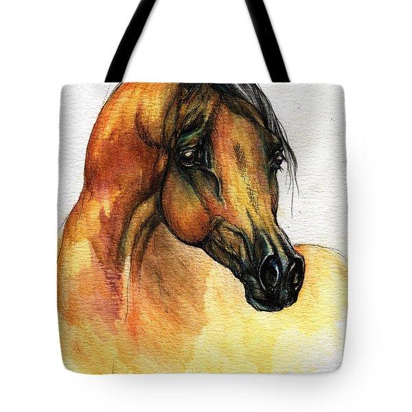 The Bay Arabian Horse 14 Tote Bag by Angel  Tarantella