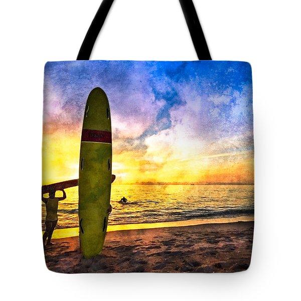 The Beach Boys Tote Bag by Debra and Dave Vanderlaan