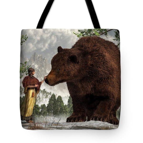 The Bear Woman Tote Bag by Daniel Eskridge