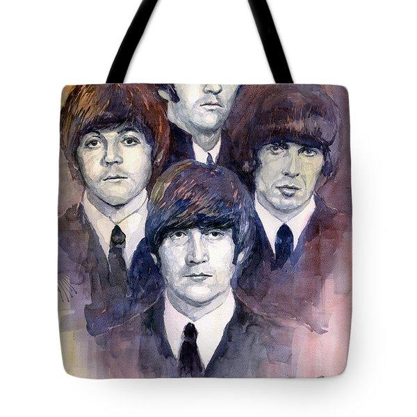The Beatles 02 Tote Bag by Yuriy  Shevchuk