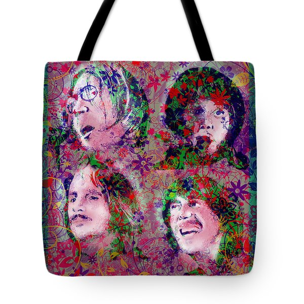 The Beatles 8 Tote Bag by Bekim Art
