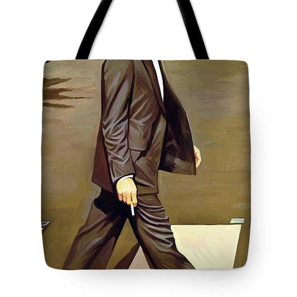 The Beatles Abbey Road Artwork Part 2 Of 4 Tote Bag by Sheraz A