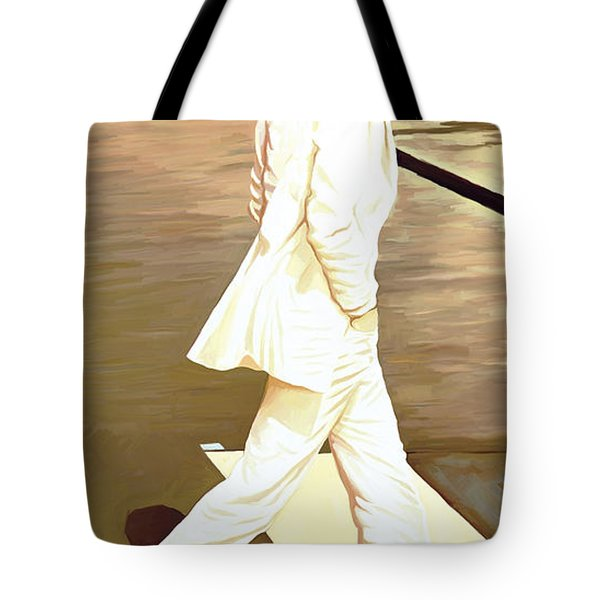 The Beatles Abbey Road Artwork Part 4 Of 4 Tote Bag by Sheraz A