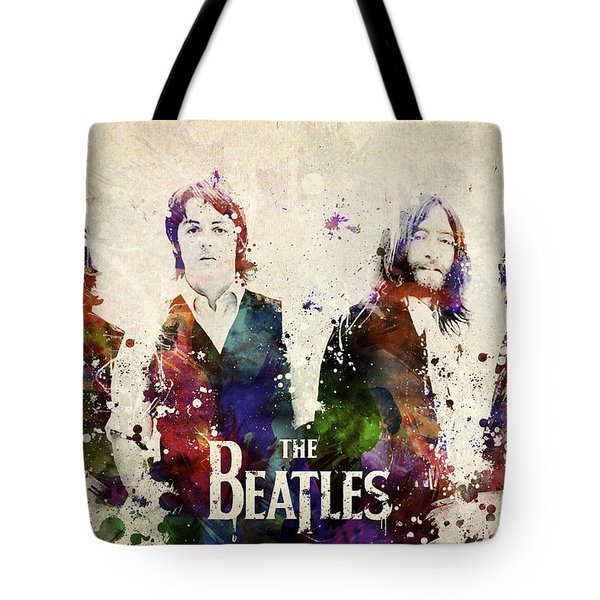 The Beatles Tote Bag by Aged Pixel