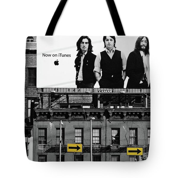 The Beatles and Apple in New York City Tote Bag by Anahi DeCanio Photography