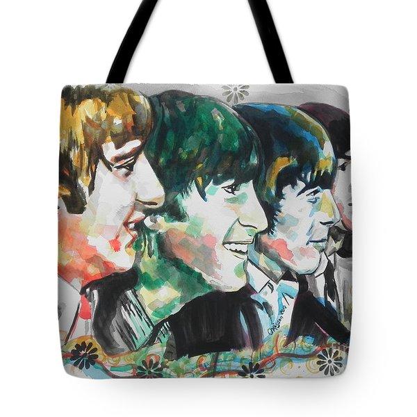 The Beatles 01 Tote Bag by Chrisann Ellis