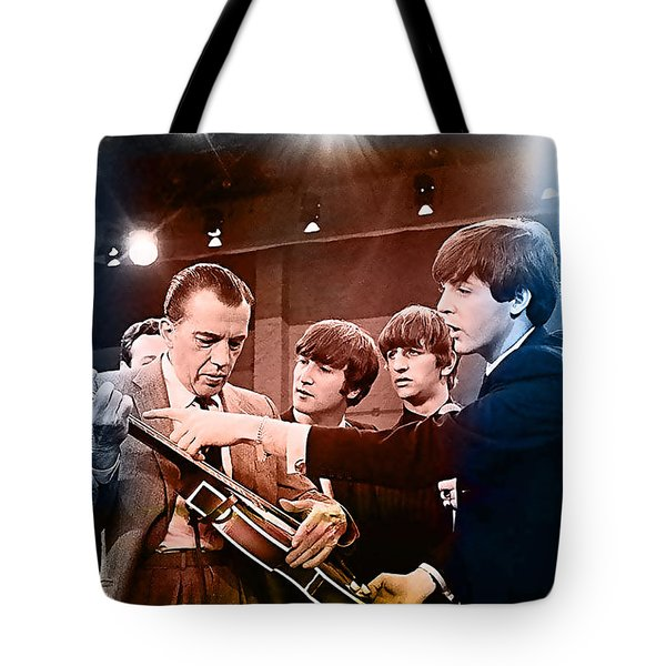 The Beatles On The Ed Sullivan Show Tote Bag by Marvin Blaine