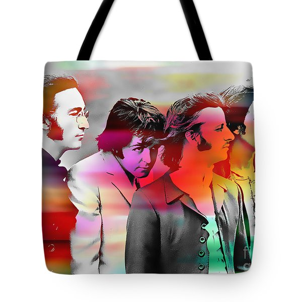 The Beatles Painting Tote Bag by Marvin Blaine