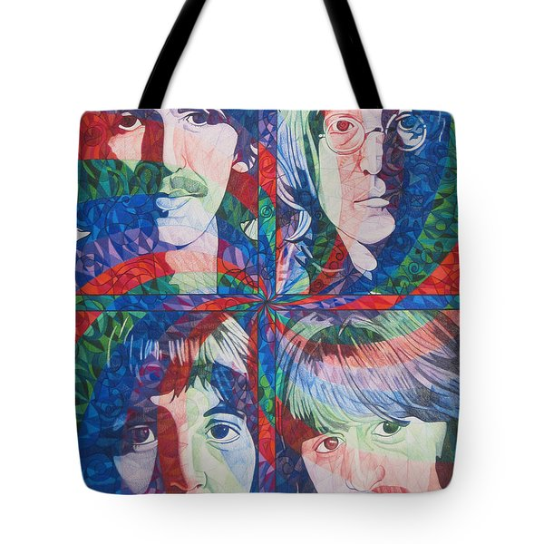 The Beatles Squared Tote Bag by Joshua Morton